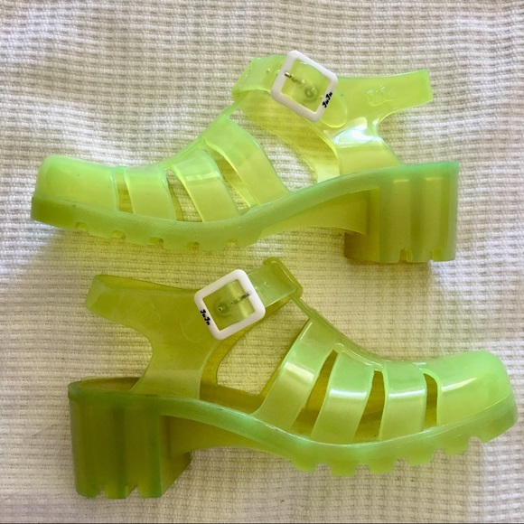 Juju Babe Jelly Shoes Neon 9s Chunky